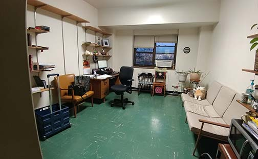 This is a view of a Corona Hall faculty office taken in fall 2018.