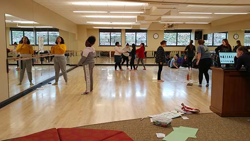 Dance Studio in Alexia Hall