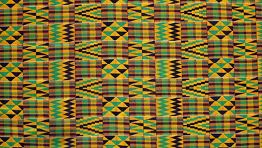 This is a color photo of Kente Cloth