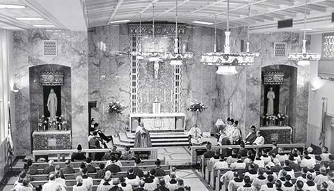 Chapel of Mary Immaculate dedication is April 1954