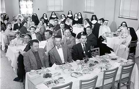1954 dedication dinner in the North Dining Room