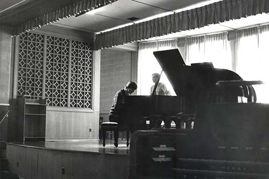 Lampe Recital Hall in the 1970's