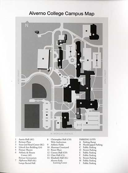 This 2012 map includes the Sister Joel Read Center which is item number 3