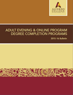 Cover of the first College Bulletin for the new flexible Adult Evening and Online Degree Program