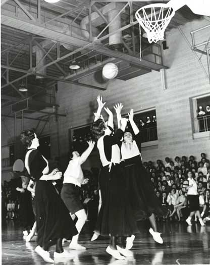 Postulants vs. Lay Students Basketball 1955