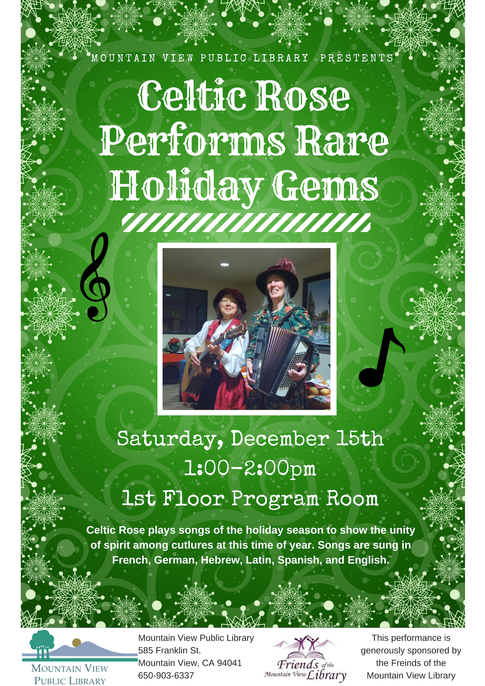 Celtic Rose Performs Rare Holiday Gems