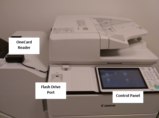 Canon network printer with OneCard Reader