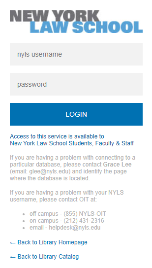 NYLS network login