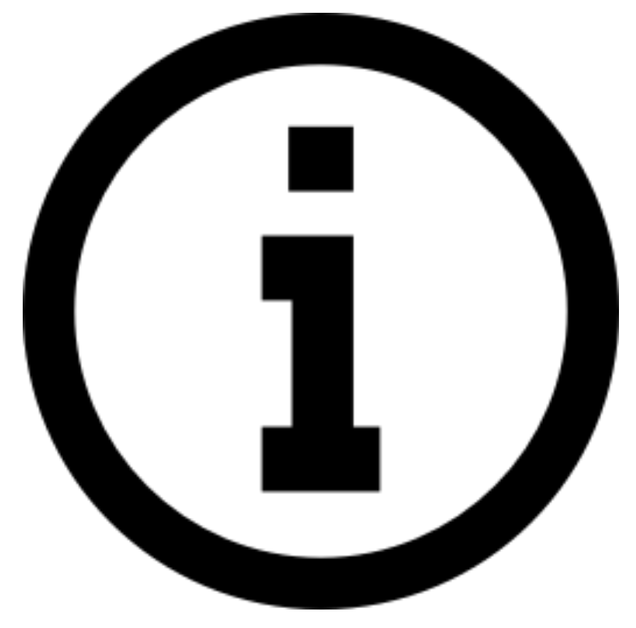 icon with letter i inside a circle