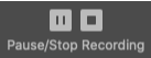 """Zoom """"Pause/Stop Recording"""" button"""
