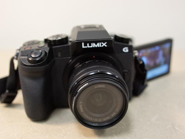 Image of a black Panasonic Lumix camera