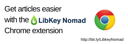 Get articles easier with the LibKey Nomad Chrome extension