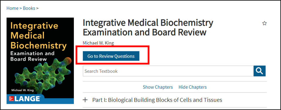 "access review questions by clicking on the ""Go to Review Questions"" button"