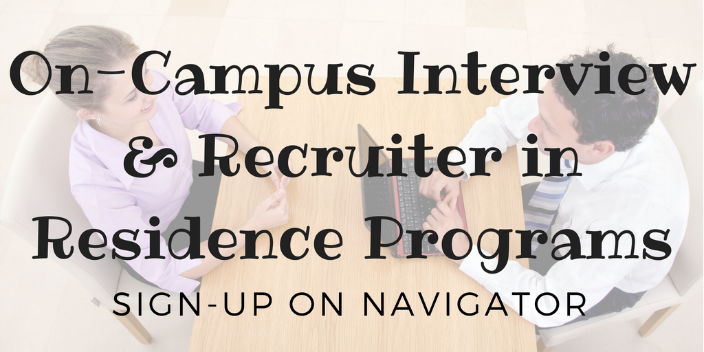 SHU On Campus Interviewing - sign up in Navigator