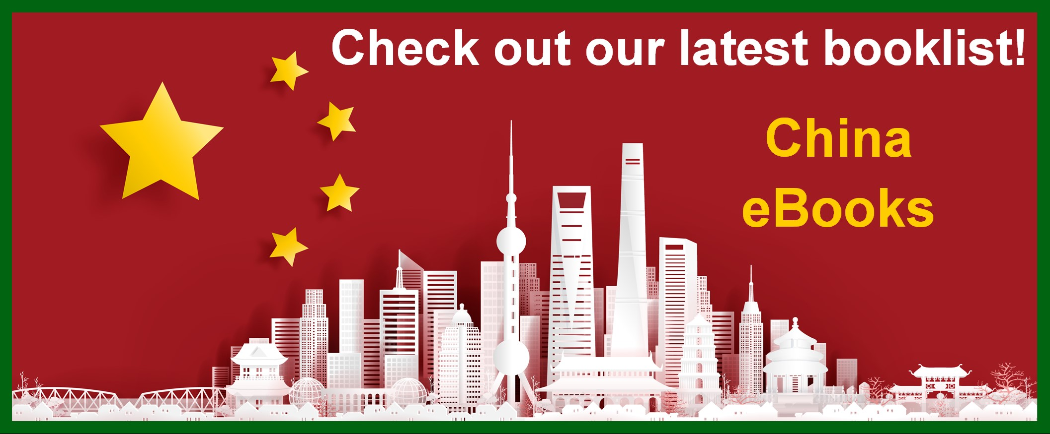 Check out our latest booklist! China eBooks