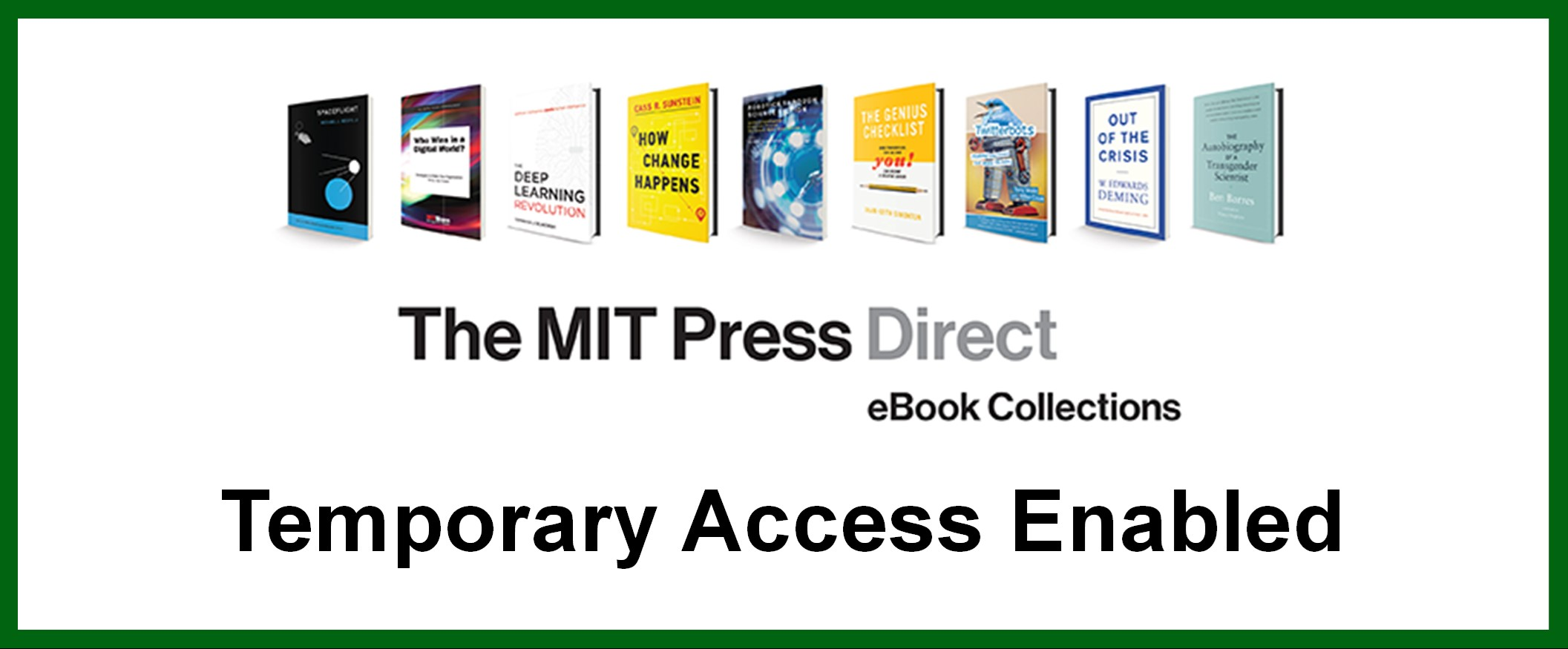 MIT Press Direct Temporary Access Enabled