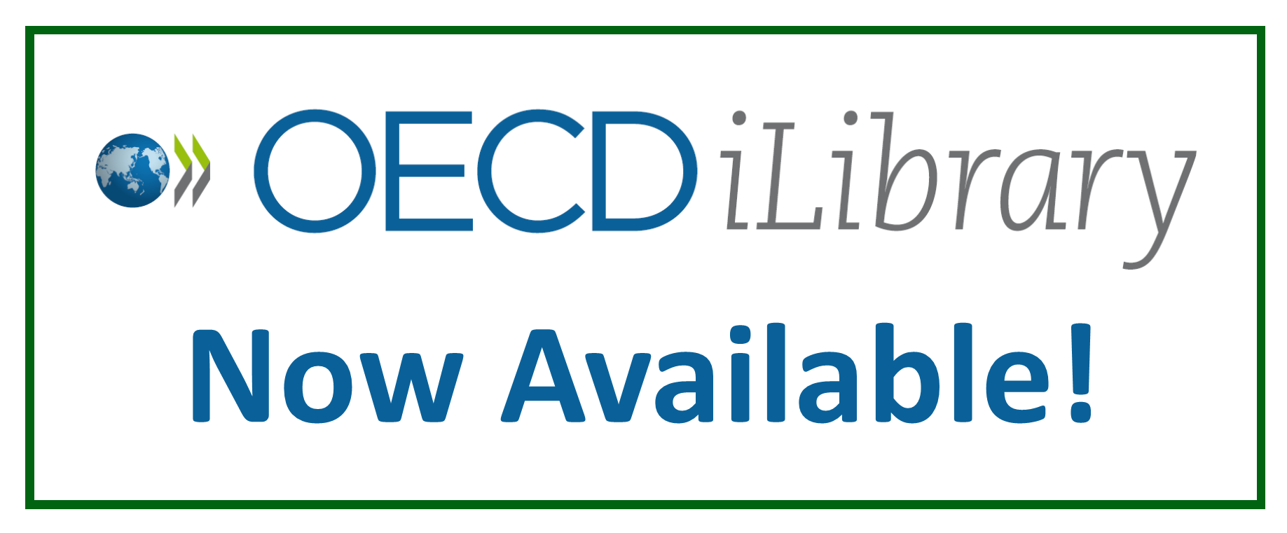 OECD iLibrary Now Available!