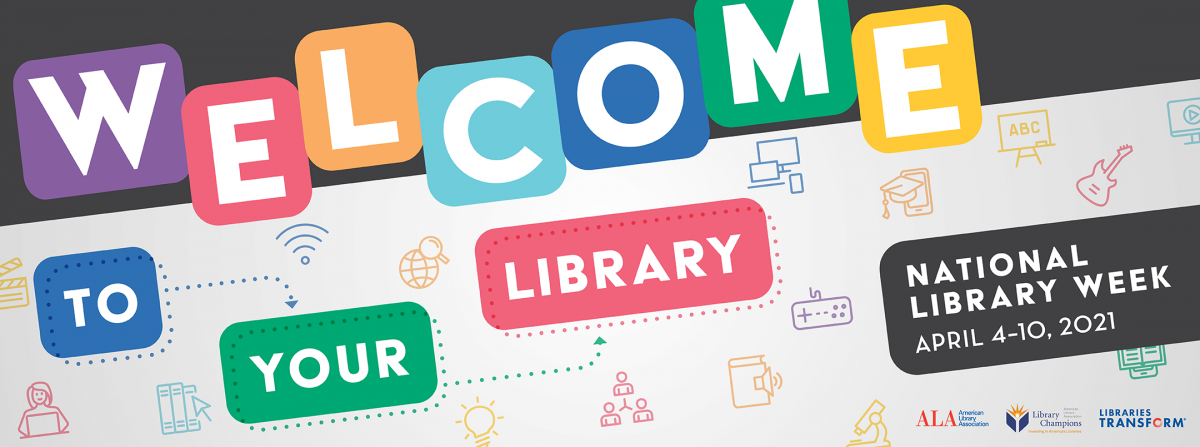 Welcome to your library colorful; icons of difference library services