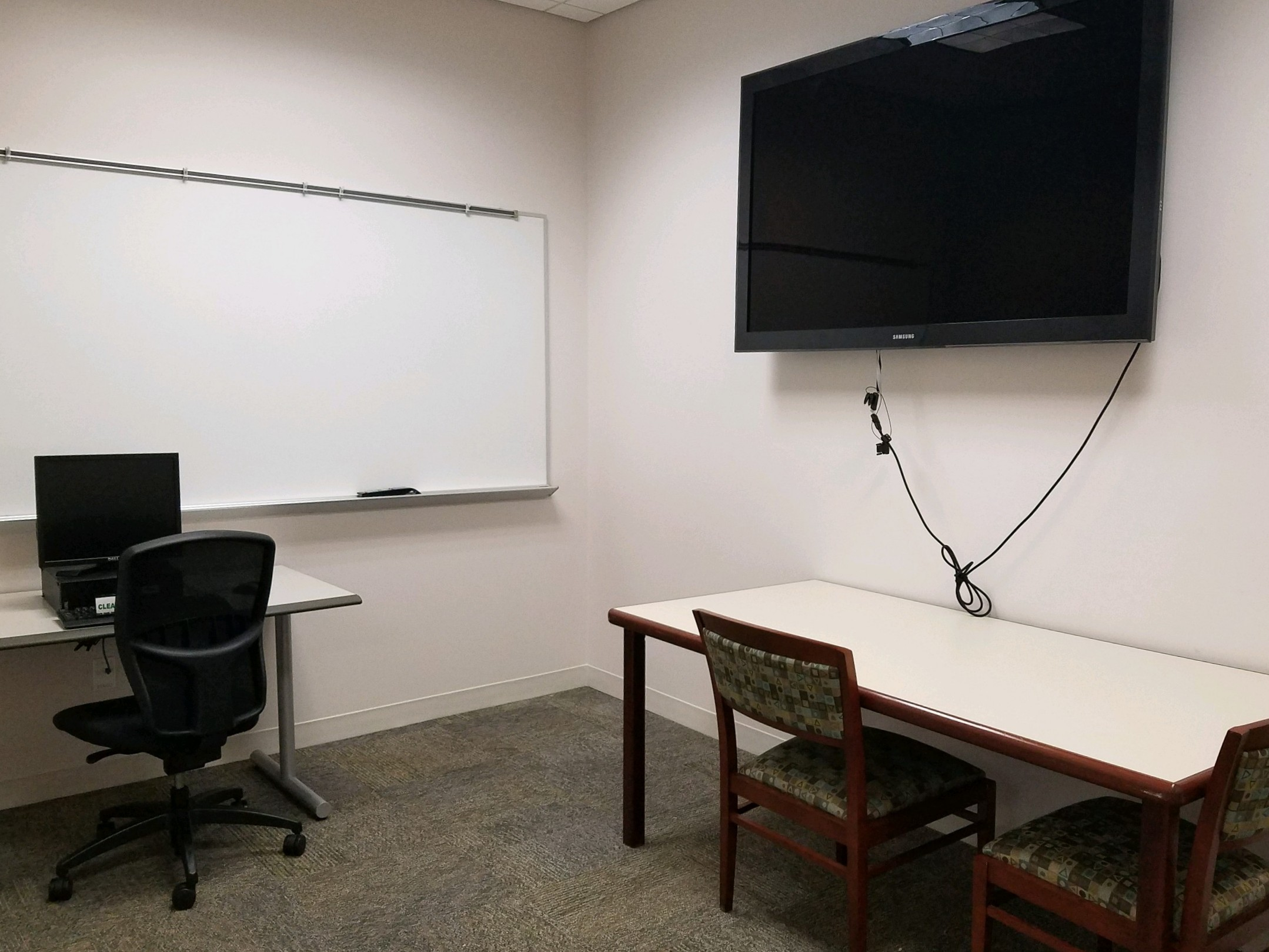 study room with computer