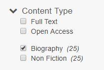 biography checkbox