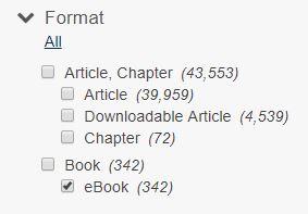 Screenshot of ebook option checked off