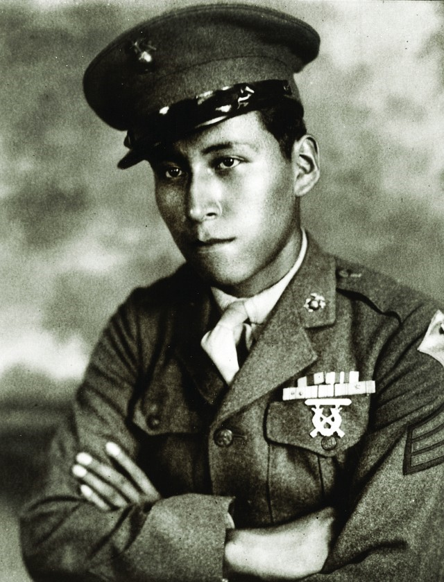 Photograph of Mitchell Red Cloud in military uniform