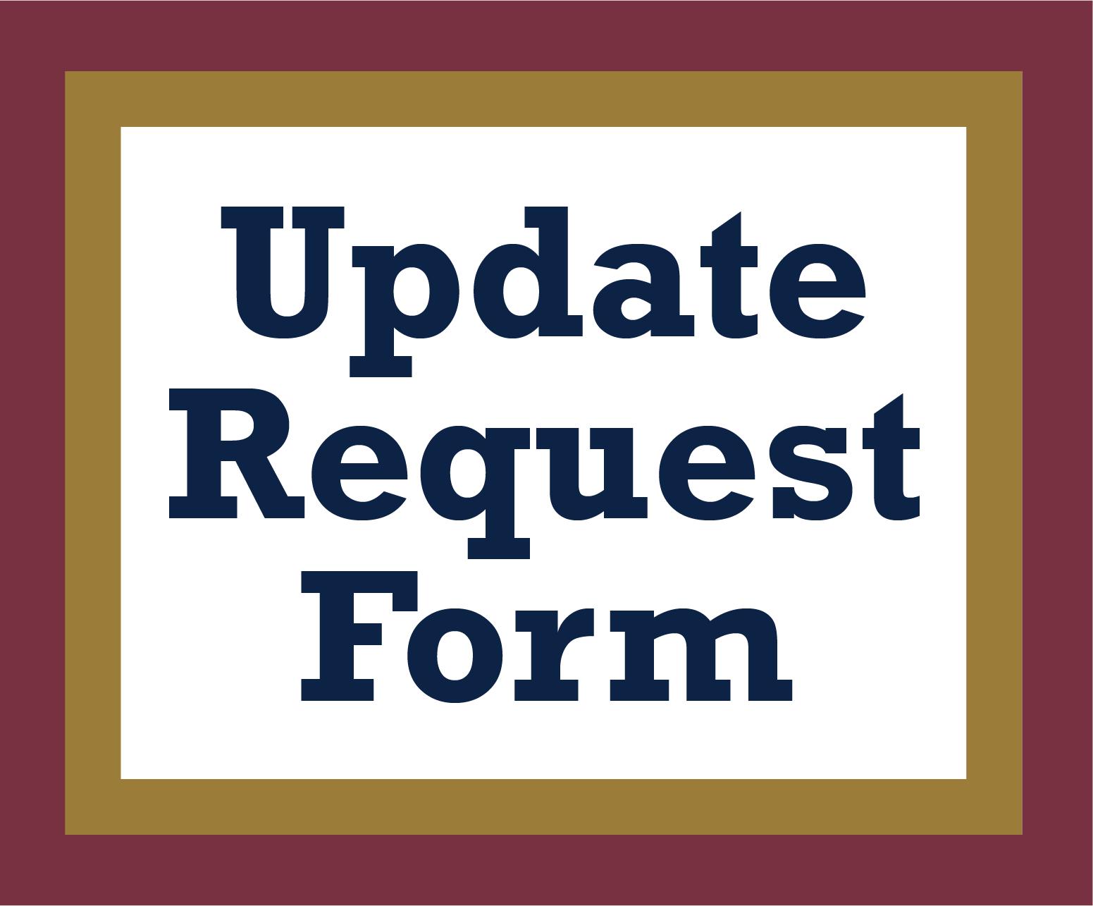 Update Request Form
