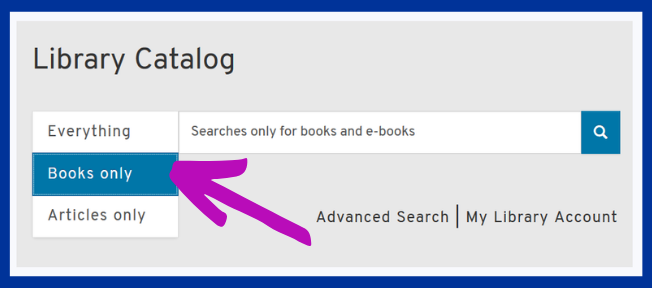 Library Catalog with Book Only limiter