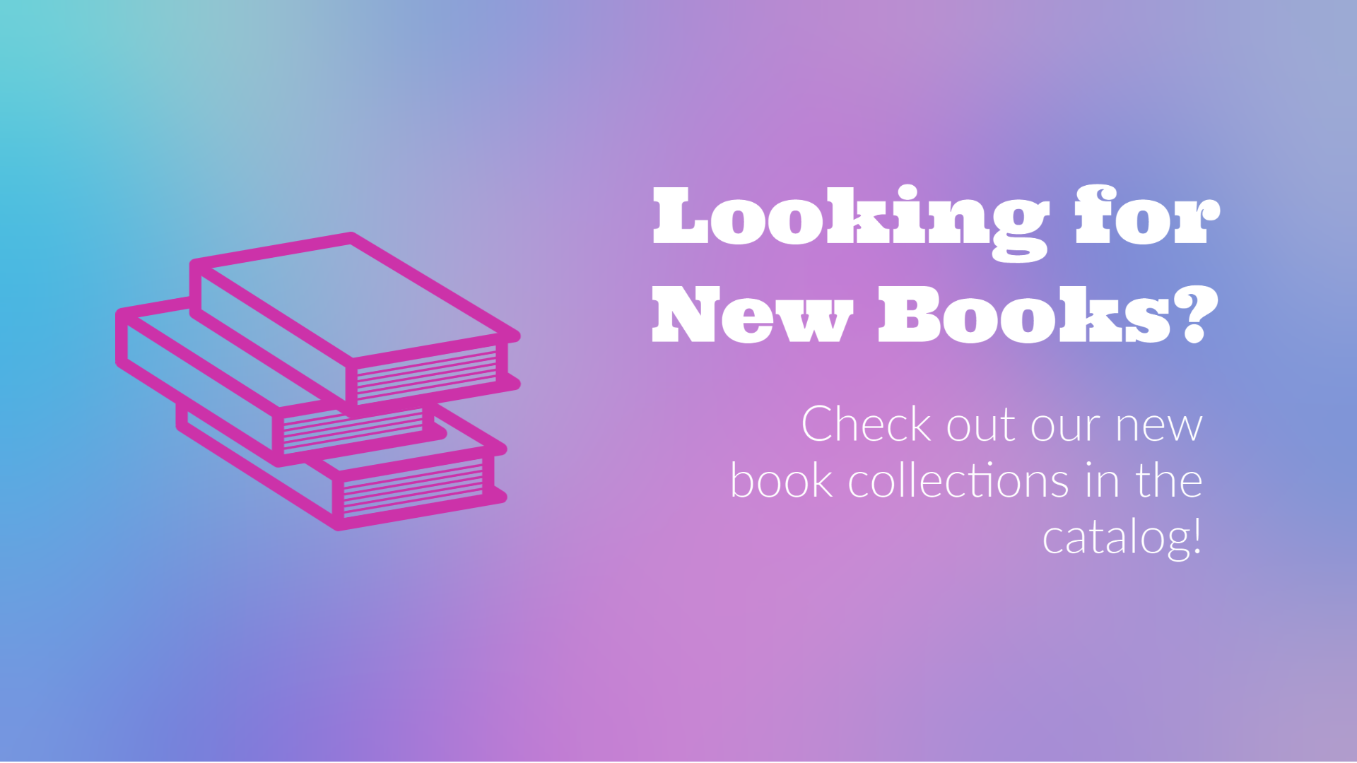 new books collections available