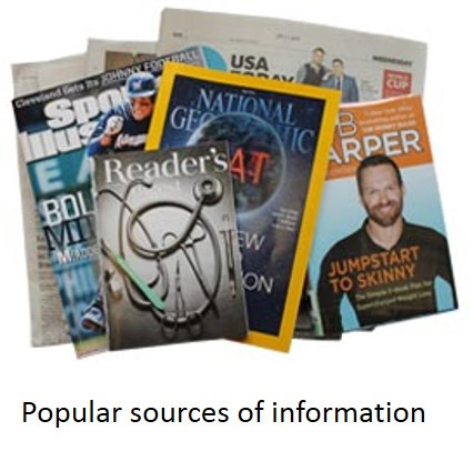 Popular sources of information