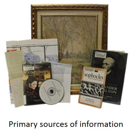 Primary sources of information