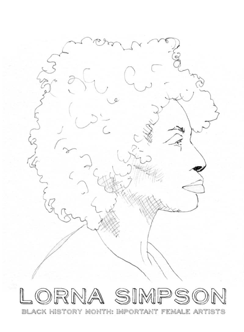 Coloring pages for Black women artists