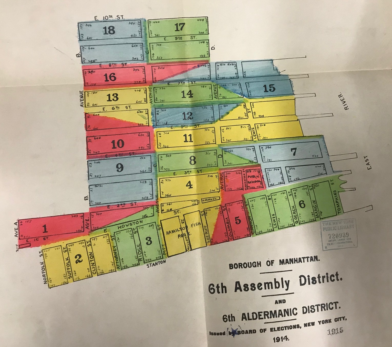 6th Assembly District Map, 1914
