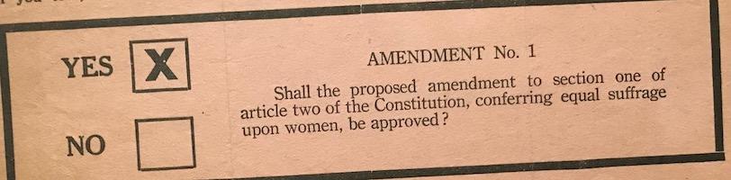 Ballot, New York Suffrage Amendment