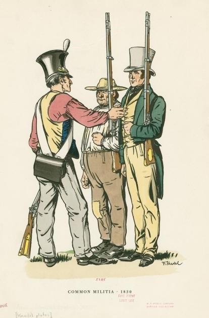 Common militia, 1830