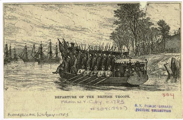Departure of the British troops.
