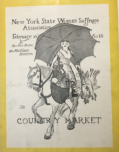Flyer for Country Market, NYS Woman Suffrage Association