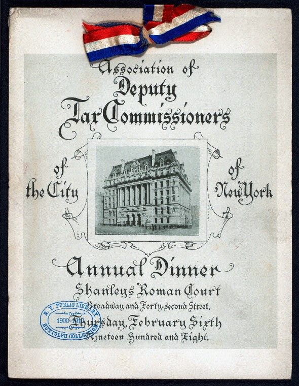 ANNUAL DINNER [held by] ASSOCIATION OF DEPUTY TAX COMMISSIONERS OF THE CITY OF NEW YORK