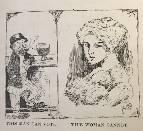 Caricature, This Man Can Vote, This Woman Cannot