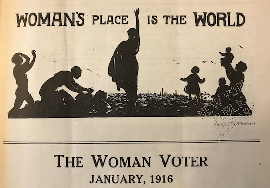 Illustration from the Woman's Voter, January 1916