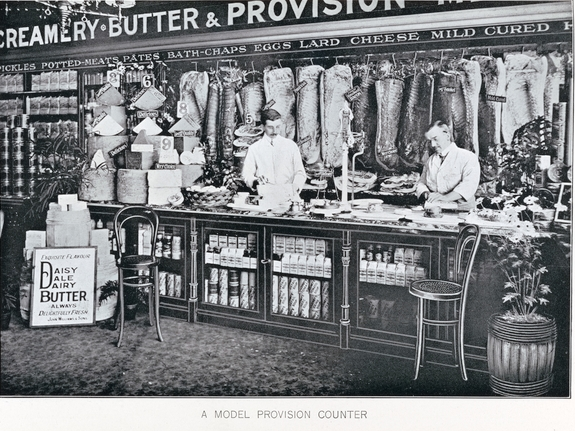 A Model Provision Counter, interior view of a store