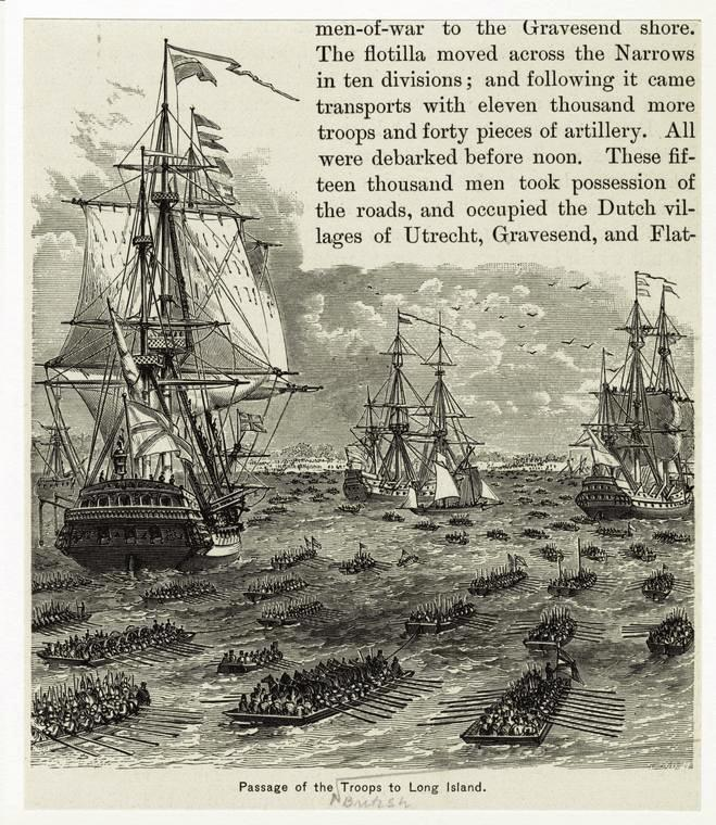 Passage of the troops to Long Island, NYPL Digital Collections ID 808579