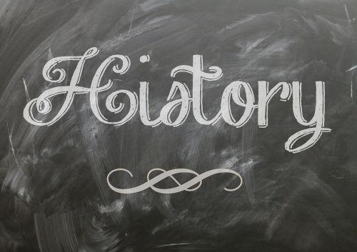 the word History written on a chalkboard