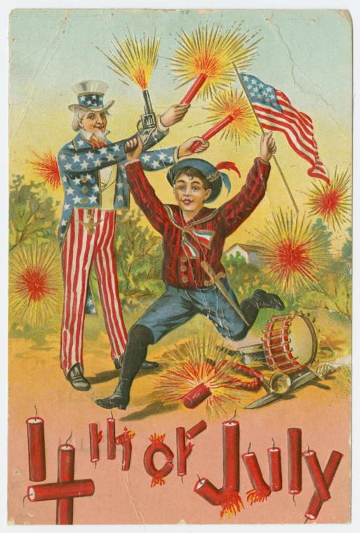 """The Miriam and Ira D. Wallach Division of Art, Prints and Photographs: Picture Collection, The New York Public Library. """"4th of July."""" The New York Public Library Digital Collections. http://digitalcollections.nypl.org/items/510d47e3-4763-a3d9-e040-e00a18064a99"""