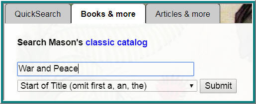 Image of old Mason catalog search box