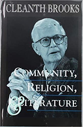 Community, Religion and Literature: Essays
