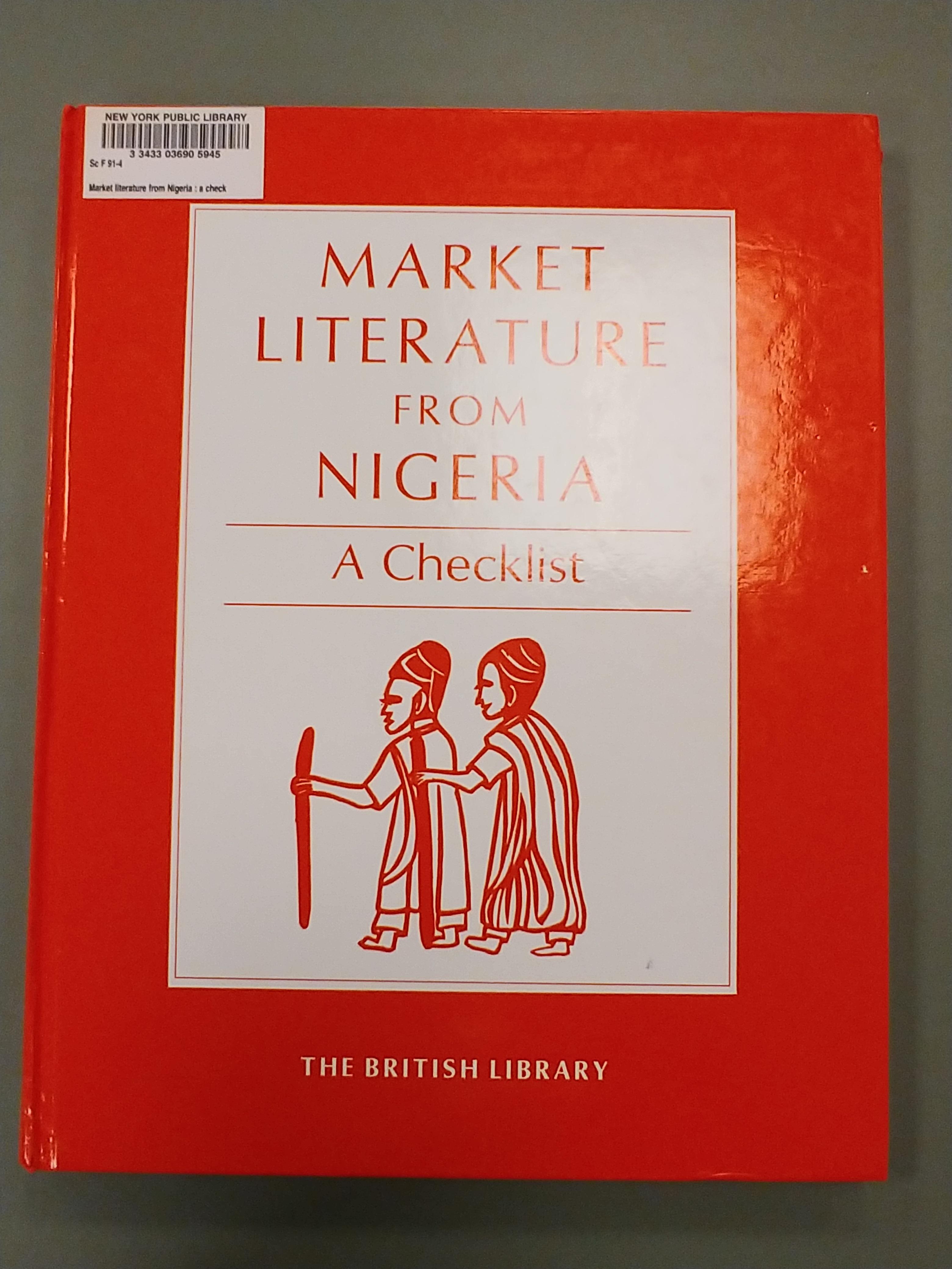 Image of Market Literature From Nigeria: A Checklist