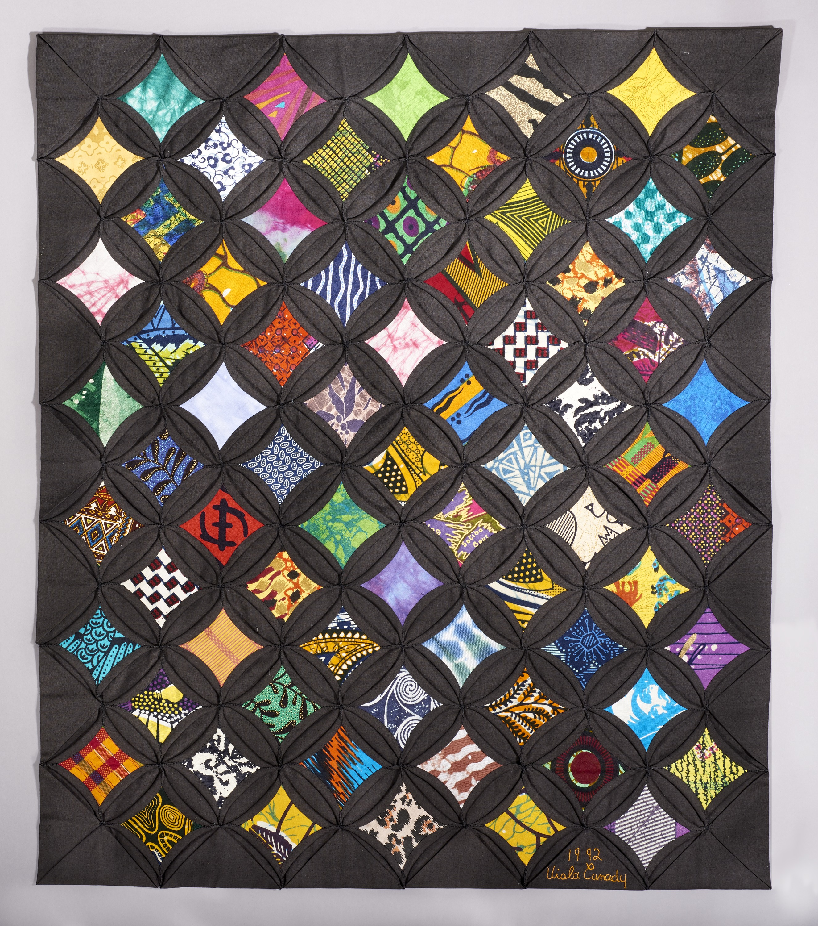 Picture of Cathedral Window Quilt Smithsonian Anacostia Community Museum Creator: Viola Canady