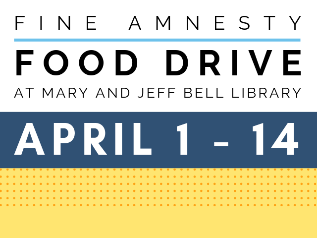 Fine Amnesty Food Drive, April 1 - 14