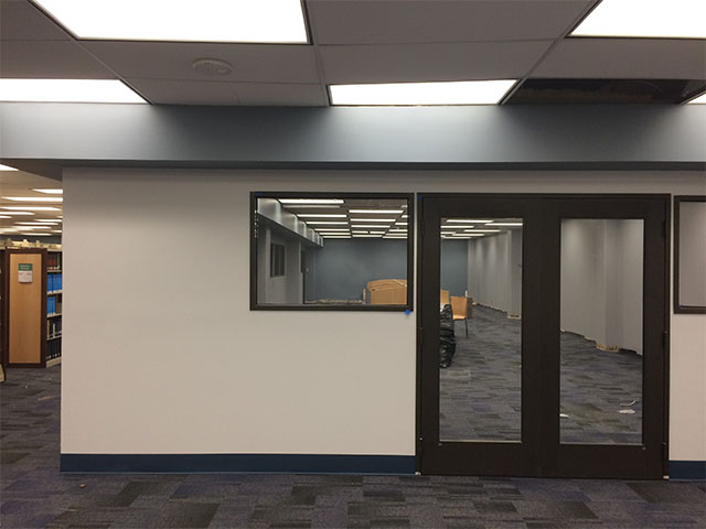 Super Quiet Study Room being constructed